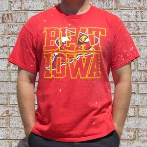 Iowa State Cyclones Beat Iowa Custom Bleach Tee XL
